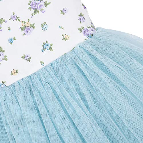 Flofallzique Baby Girls Dress Toddler Tutu Infant Floral Sundress Tulle Wedding Dress