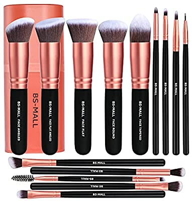 5 Pieces Basic Big Kabuki Makeup Brushes and 9 Pieces precise eye makeup brushes SOFT and SILKY to the touch, the brushes are dense and shaped well. Soft but firm to apply makeup, the bristles also do not fall out during the makeup application proces...