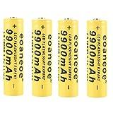4pcs 18650 Piles Rechargeables, 18650 Batterie 3.7V 2500mAh Batterie...