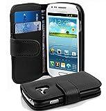 Cadorabo Coque pour Samsung Galaxy S3 Mini en Noir DE Jais - Housse Protection...