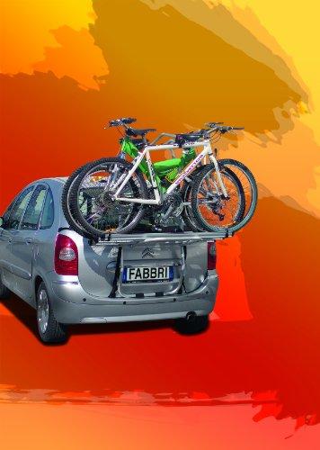 Fabbri Portatutto 6201811 Bici Ok 3 Van Portabiciclette Posteriore per Trasportare 3 Biciclette