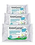 RAWGANIC Bio Baby Feuchttücher aus 100% organische Baumwolle   feuchte Tücher zur sanften Reinigung Babyhaut   extraweiche, biologisch abbaubar Tücher mit Aloe Vera (3 Packungen)