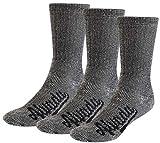 Alvada 80% Merino Wool Hiking Socks Thermal Warm Crew Winter Boot Sock for Men Women 3 Pairs ML