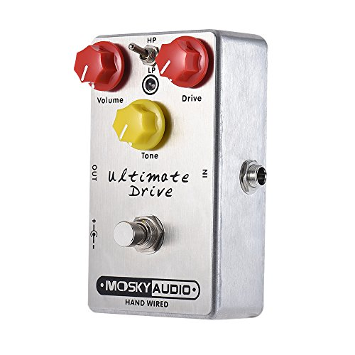 ammoon Ultimate Drive Overdrive Guitar Effect Pedal Full Metal Shell True Bypass