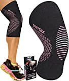 Physix Gear Knee Support Brace - Premium Recovery & Compression Sleeve for Meniscus Tear, ACL, MCL Running & Arthritis - Best Neoprene Stabilizer Wrap for Crossfit, Squats & Workouts (Single Pink S)