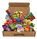 Loteria Candy Co. Ultimate Mexican Care Box Premium Selection ( Lucas, De La Rosa, Indy, Vero, Anahuac, Miguelito, Pelon plus Limited Edition IGUEY Tamarind Cover Lollipop ) Mexican Candy