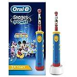 Oral-B Niños Cepillo De Dientes Eléctrico, 1 Mango De Mickey Mouse Recargable Con Tecnología De...