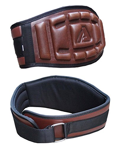 Aprodo Gym Belt Heavy Weight Lifting Back Support Embossed Neoprene Belt (XL (42 Inch))