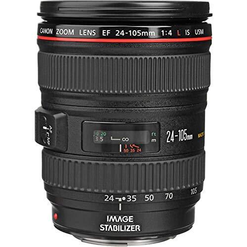 Canon EF 24-105mm f/4.0 L IS USM - Objetivo para Canon (Distancia Focal 24-105mm, Apertura...