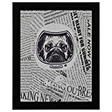 12x16Inch Black Wood Picture Frame Wall Decor Kids Image Pug Astronauts Helmet Portrait Dictionary Newspaper Living Room Wall Art Country Art Wall Decor Funny Wall Art Decor Vintage Simple Home Decor