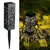 Maggift 8 Pcs Solar Powered LED Garden Lights, Solar Path Lights Outdoor, Automatic Led Halloween Christmas Decorative Landscape Lighting for Patio, Yard and Garden