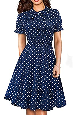 Style: Chic Bandage Casual Retro Dress Note:The shape of the bandage in the pic is just a sample, you need to tie it yourself. Low Temperature,Hand wash or gentle machine wash Occasions: Suitable for many occasions like party,wedding,cocktail and so ...