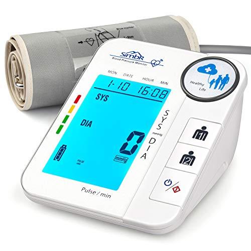 SIMBR Misuratore Pressione Sanguigna da Braccio Digitale con Funzione di Rilevamento dell'aritmia...