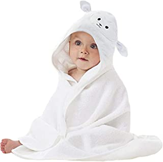 Lucylla Organic Bamboo Baby Hooded Towel | Ultra Soft and Super Absorbent Toddler Hooded..