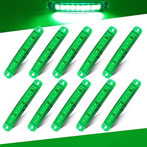 Teguangmei 10pcs luci di Avvertimento del Rimorchio Laterale Verde 9LED luci di Posizione del...