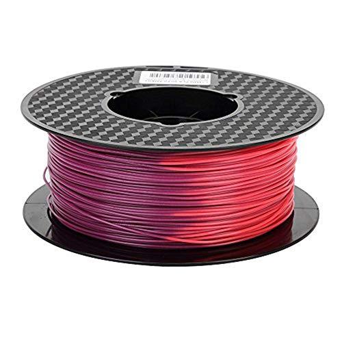 SHINA 3Dプリンターフィラメント PLA 1.75mm 1KG(2.2LBS)スプール 寸法精度+/-0.05mm 色は温度とともに変...