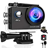 GOOKAM Caméra Sport 4K WiFi 20MP Ultra HD, Étanche 40M 170°Grand-Angle...