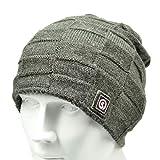 SNOW DEER Heated Hat,Electric Battery Winter Heat Knitting Beanie Dark Gray
