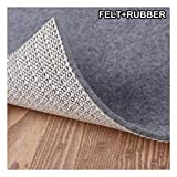 Enjoy Holiday 1981 Non Slip Pad Rug Grippers - Round 4x4, 1/8' Thick, (Felt + Rubber) Double Layers Area Carpet Mat Tap, Provides Protection and Cushioning for Hardwood or Tile Floors