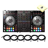 Pioneer DJ DDJ SX3 Share 4 Channel USB DJ Controller for Serato DJ Pro with Serato DJ Pro and Flip Software Included for Mac & PC BUNDLE with 6 x Senor 20' XLR Microphone Cable and Zorro Sounds Cloth