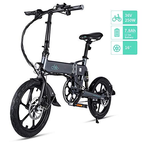 FIIDO D2/D2S Bicicleta Elctrica Plegable, 7.8Ah 36V E-Bike 250W con...