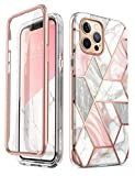 i-Blason Cosmo Series Case for iPhone 12 Pro Max 6.7 inch (2020 Release), Slim Full-Body Stylish Protective Case with Built-in Screen Protector (Marble)