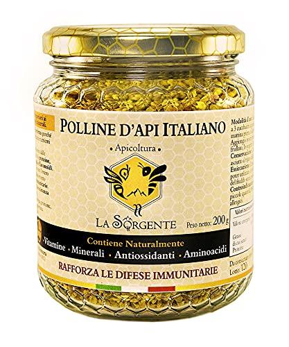 Polline dapi Italiano 200 g - Dalle colline Marchigiane - La migliore fonte vegetale di Proteine ed Aminoacidi.
