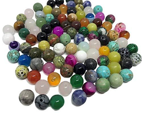 100 unidades de piedras semipreciosas variadas, para joyerí