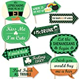 Funny St. Patrick's Day - Saint Patty's Day Photo Booth Props Kit - 10 Piece
