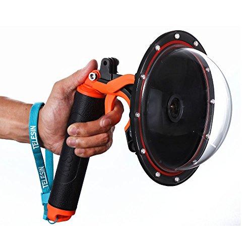 TELESIN 6 'T03 Dome Porta Subacquea Fotografia Subacquea con dispositivo di trigger pistola per il Gopro Hero3 / 3 + / 4 --- Arancione