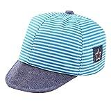 Wascoo_Enfant Bonnet bébé chapeau à étoiles brodé de rayures, casquette de baseball en coton (0-12 mois)