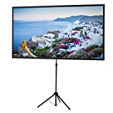 celexon 89 inch Portable, Lightweight Mobile Projector Screen with...