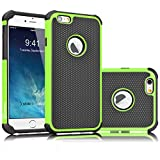 Tekcoo iPhone 6S Case, Tekcoo iPhone 6 Sturdy Case,[Tmajor] for iPhone 6 / 6S (4.7 INCH) Case Shock Absorbing Impact Defender Slim Cover Shell w/Plastic Outer & Rubber Silicone Inner [Green/Black]