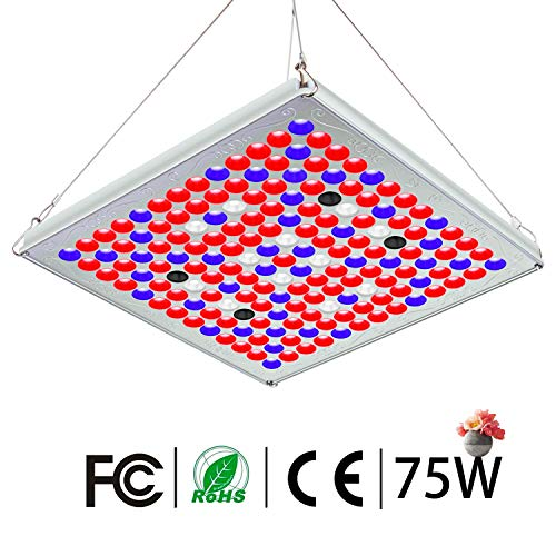 Pflanzenlampe 75W TOPLANET, Led Grow Lampe Vollspektrum mit UV IR Rot Blau Licht Pflanzenlicht full Spectrum für Gewächshaus Wachstumslampe Grow Box Pflanzenleuchte