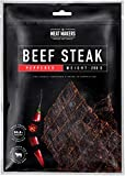 The Meat Makers | BIG PACK Spicy Peppered Dried Beef Jerky Steak (200g) – Trockenfleisch Rindfleisch Für Menschen