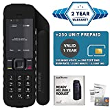 2019 Unlocked IsatPhone 2.1 Satellite Phone with 250 Units Prepaid SIM Card Valid 6 Months - Voice, SMS, GPS Tracking, Emergency SOS Global Coverage - Water Resistant