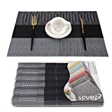 OUME Lot de 6 Sets de Tables PVC Lavables Antidérapant...