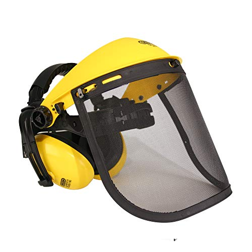 Oregon Casque de protection avec visière en maille et protège-oreilles