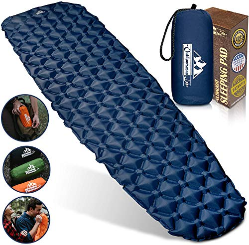Outdoorsman Lab Inflatable Sleeping Pad - Ultralight, Compact.