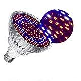 Lmparas de Crecimiento 30W,E27 Bombilla LED de Cultivo de Espectro Completo Para Plantas,Lmpara de Cultivo Para Plantas de Interior Vegetales y Flores Hidropona