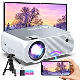 Bomaker Wi-Fi Mini Projector, 150 ANSI Lumen Portable Outdoor Movie Projector, Full HD 1920x1080p Supported Video Projector, Wireless Mirroring, for Android/iPhone/PCs/Laptops/Windows- White