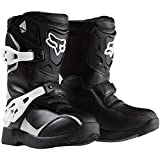 Fox Racing Pee Wee Comp 5K Youth Boys Off-Road/Dirt Bike Motorcycle Boots - Black/Silver/Size 13