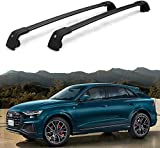 BUSUANZI Coche Techo Rack Cross Barras Conjunto para Audi Etron 2019 2020 Aluminio Barandilla Lockable Carrier Equipaje Accesorios de Viaje