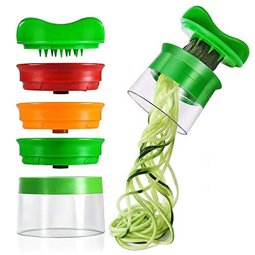 Affettatrice a Spirale, opamoo Affettaverdure con 3 Lame Spiralizzatore Affetta Verdure Spaghetti Qualit Affettatrice Spirale Vegetale Veggetti, Affettatore a Spirale per Cetrioli Patate Zucchine