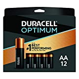 Duracell Optimum AA Batteries | 12 Count Pack | Lasting Power Double A Battery | Resealable Package For Storage | Alkaline AA Battery Ideal for Household and Office Devices