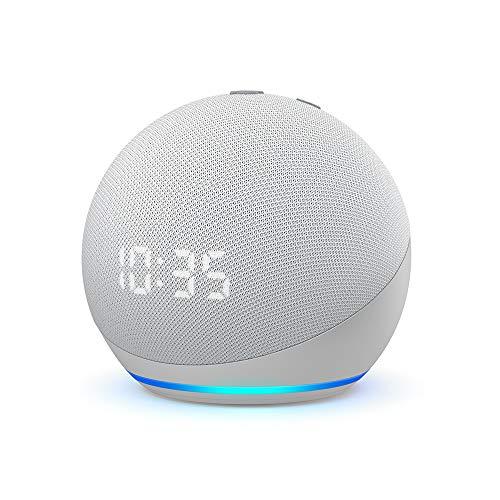 Echo Dot (4.ª generación)   Altavoz inteligente con reloj y Alexa  ...