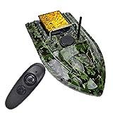 FZC-YM Barco de Cebo de Pesca 500M Control Remoto Buscador de Peces Barco de Cebo, Negro