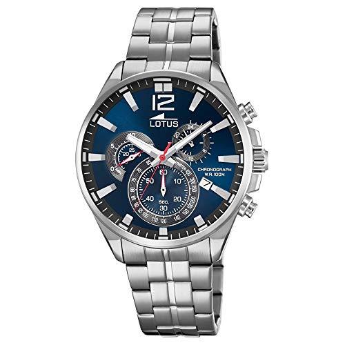 Lotus Herren Chronograph Quarz Uhr mit Edelstahl Armband 10136/3