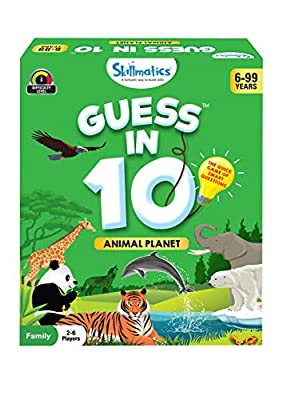 EXCITING CARD GAME OF QUESTIONS - Ask up to 10 questions to guess the animal on the Game Card! Is it a carnivore? Is it a domestic animal? Does it live in groups? Think hard, ask intelligent questions, use your clue cards wisely, and the be the first...