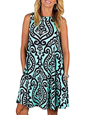 👗Style→summer dress, a line dress, flared dress, tunic dress, loose dress, casual dress/fashion Swing Dress/loose summer beach dress/long tank tunic top/long tunic tank with leggings. 👗Feature→Two handy side pockets.The dress' pockets come in handy w...